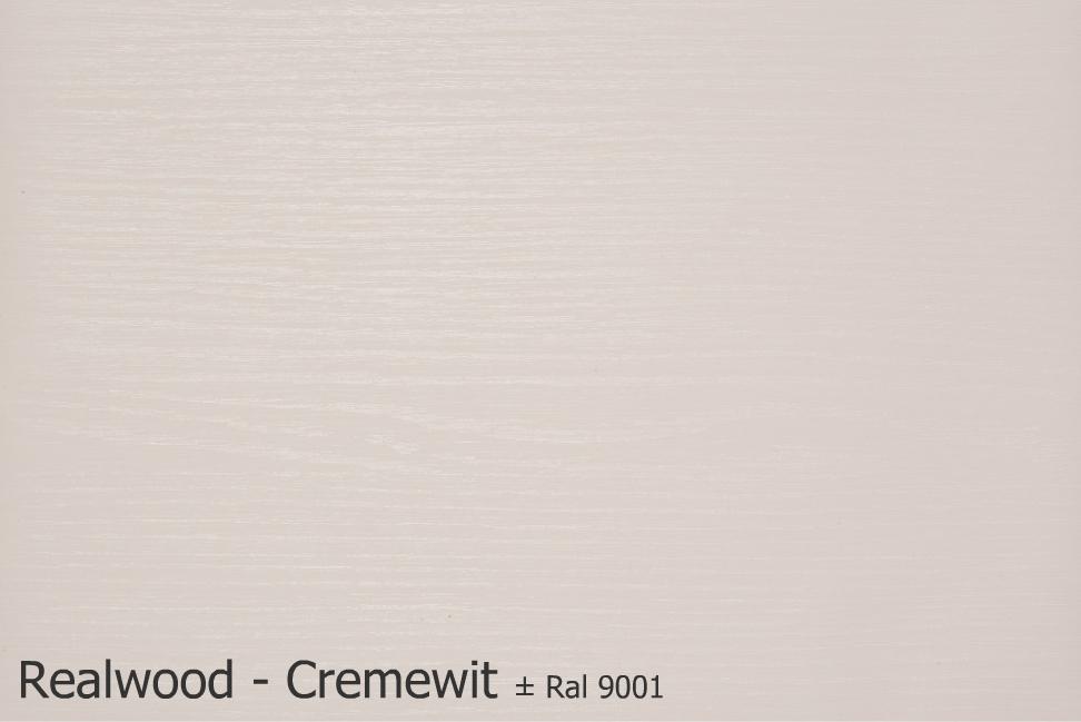 Realwood - Cremewit Ral 9001