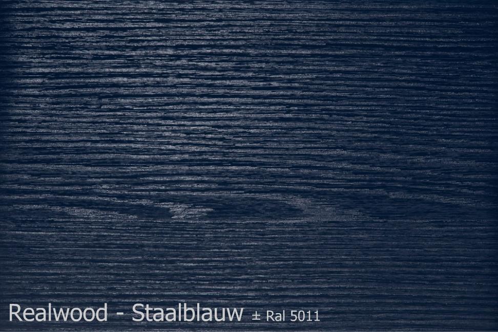 Realwood - Staalblauw Ral 5011